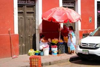 Straßenverkäufer Valladolid Mexiko