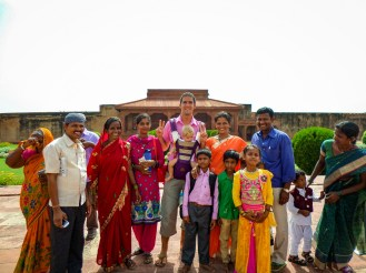 Indische Familie Fatehpur Sikri