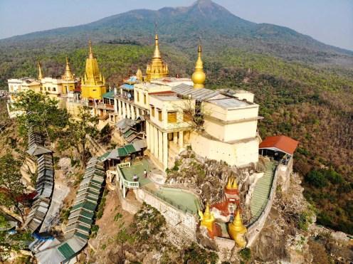 Mount Popa Drohne Foto