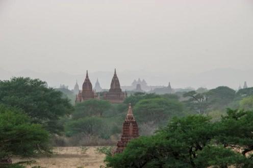 Bagan Pagoden Sonnenuntergang