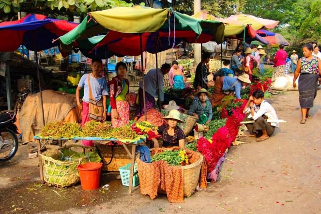 Blumenstand Markt Mandalay