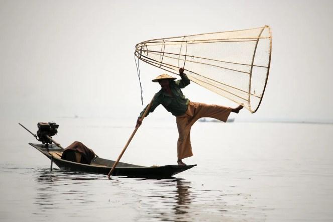 Einbeinruderer Inle See