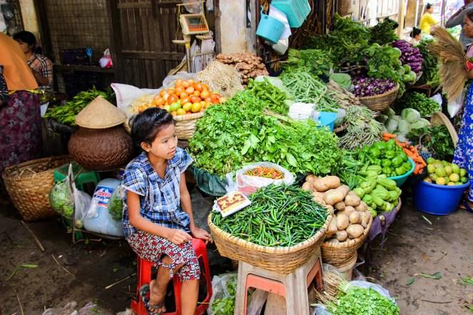 Gemüsestand Myngyan