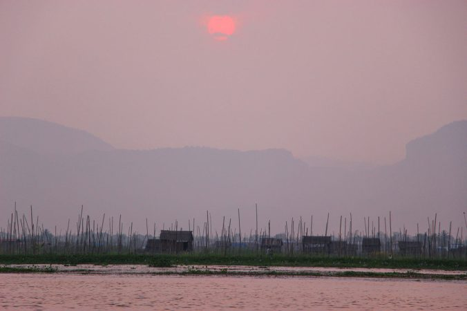 Sonnenuntergang Inle See