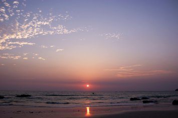Ngapali Beach Sonnenuntergang