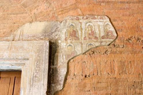 Buddhas Wandmalerei Htilominlo Tempel