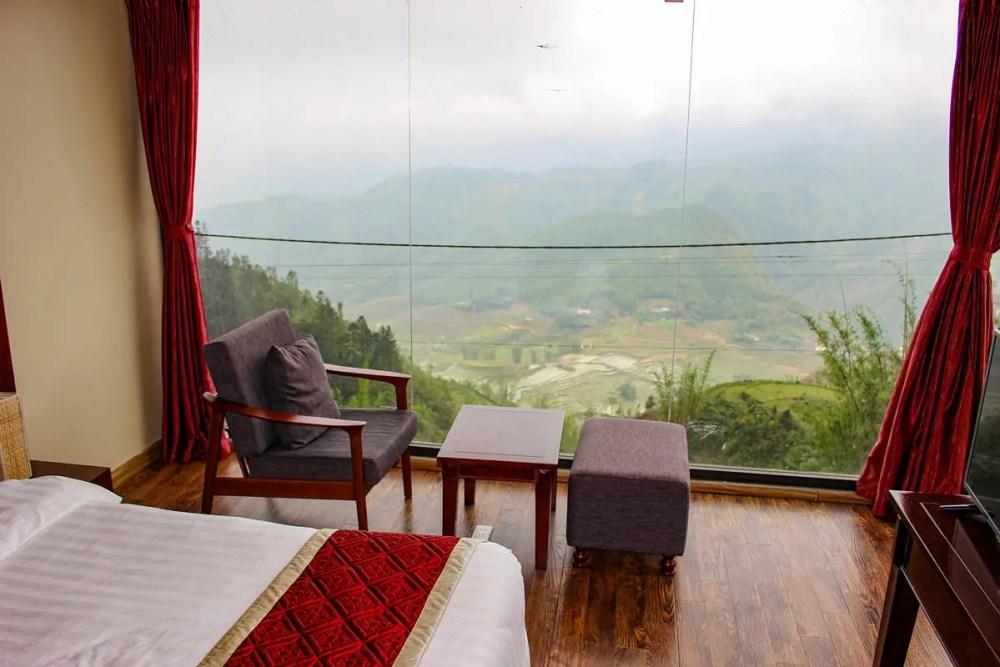 Aussicht Zimmer Sapa Vista Hotel