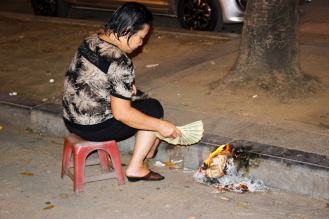 Burning Fake Banknotes Dollar Vietnam