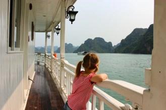 Halong Bucht Aussicht Schiff
