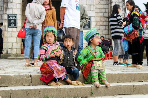 Hmong Kinder in Sapa