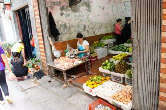 Morgenmarkt in Hanoi´s Old Quarter