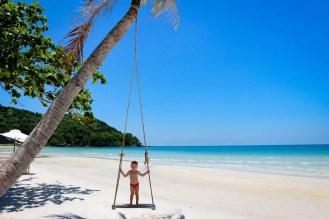 Palmen Schaukel Sao Beach Vietnam