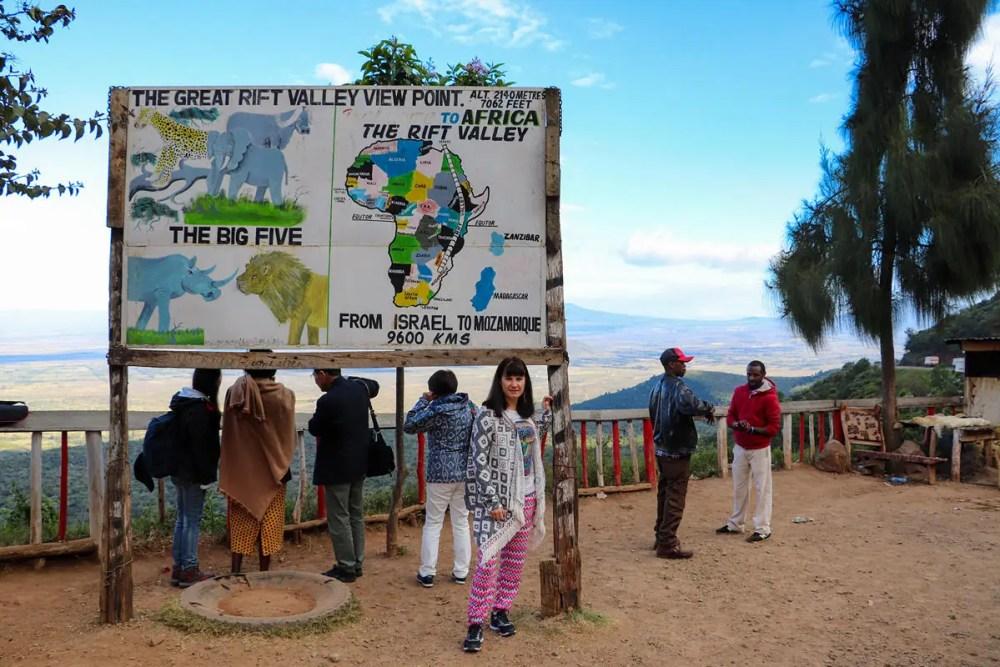 Aussichtspunkt Großer Afrikanischer Grabenbruch Kenia