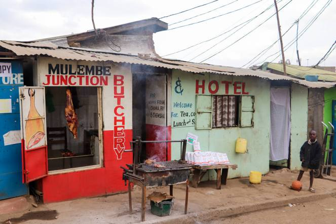 Metzgerei Mathare Slum