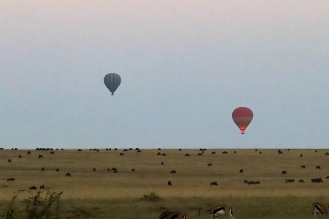 Safari Heißluftballon Kenia