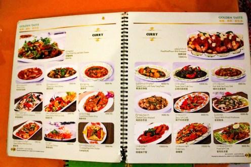 Speisekarte Shwe Ya Thar Restaurant