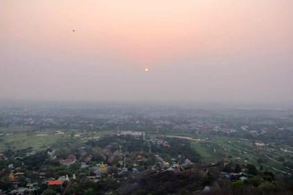 Aussicht Mandalay Hill Sonnenuntergang