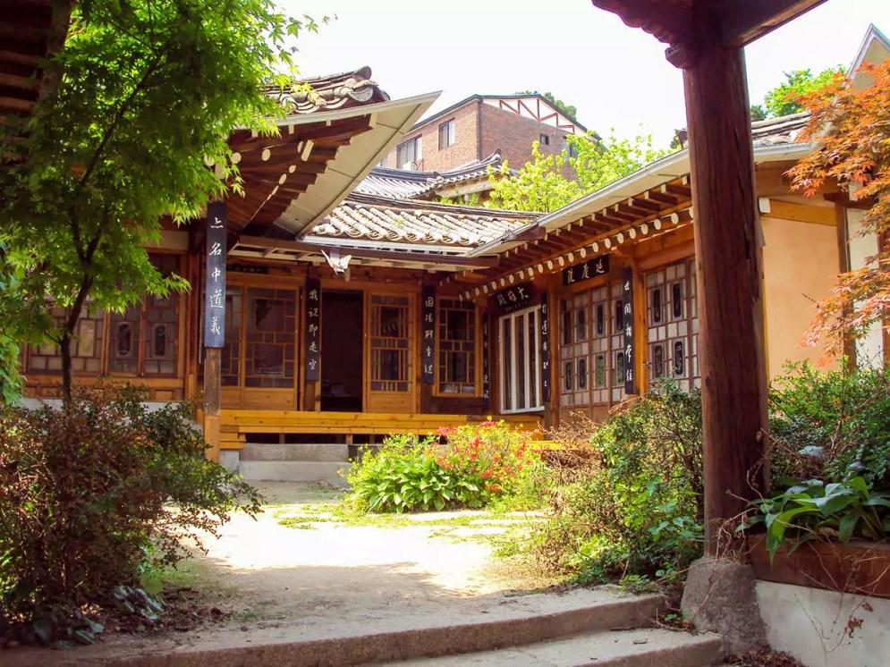 Traditionelles koreanisches Hanok Haus