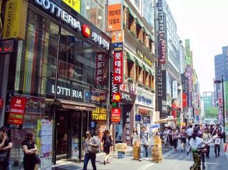 Einkaufsladen Myeong-dong Seoul