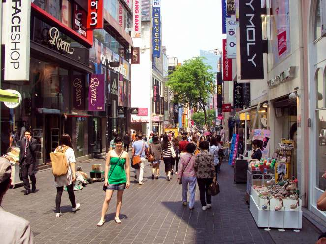 Myeong-dong Shopping Viertel Seoul