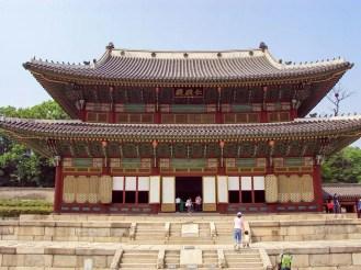 Palast Changdeokgung Injeongjeon Throne Halle