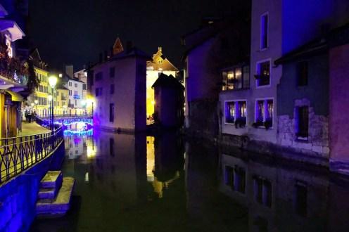 Altstadt Annecy am Abend