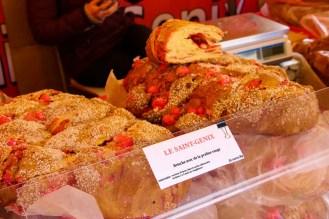 Brioche Saint-Genix in dem Weihnachtsmarkt