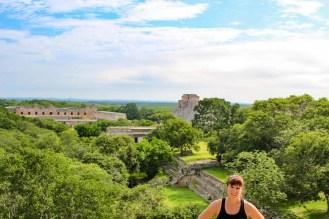 Aussicht von der Großen Pyramide in Uxmal