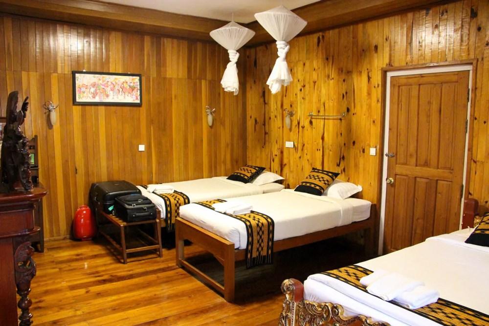 Unser Zimmer im Golden Empress Hotel in Nyaung Shwe