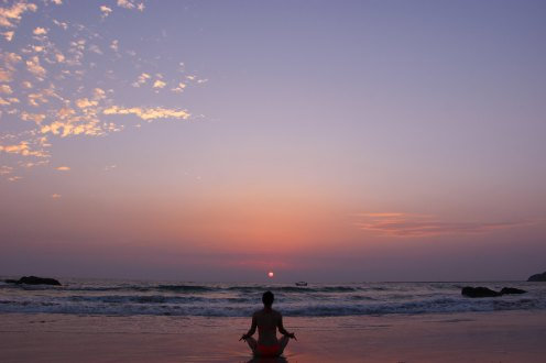 Sonnenuntergang auf dem Ngapali Beach