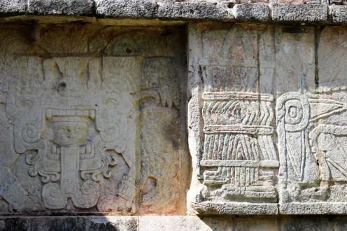 Relief an der Venusplattform von Chichen Itza