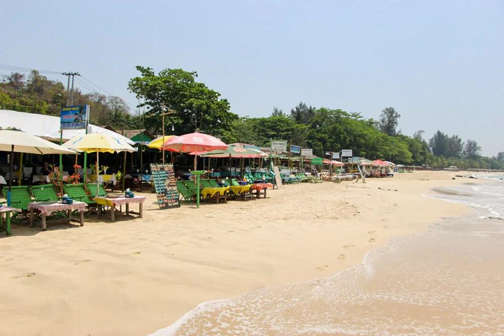 Strandrestaurants auf Ngapali Beach