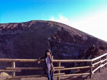 Am Vesuv-Kraterrand