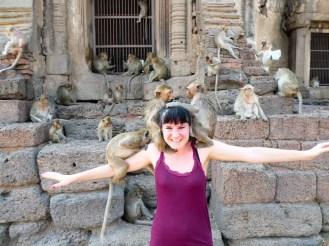 Affen im Affentempel in Lopburi
