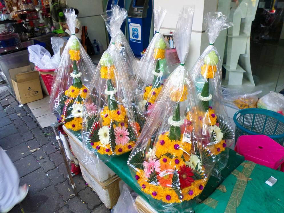 Blumensträuße auf dem Blumenmarkt in Bangkok