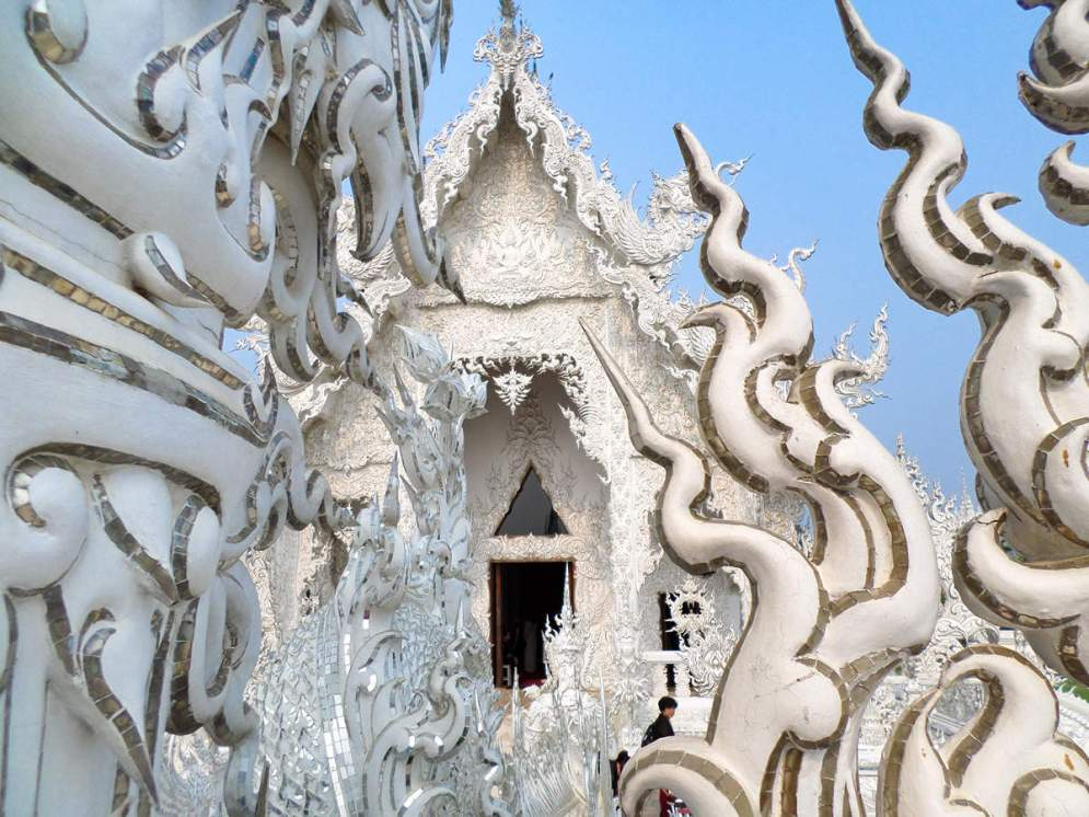 Glasmosaik Weisser Tempel
