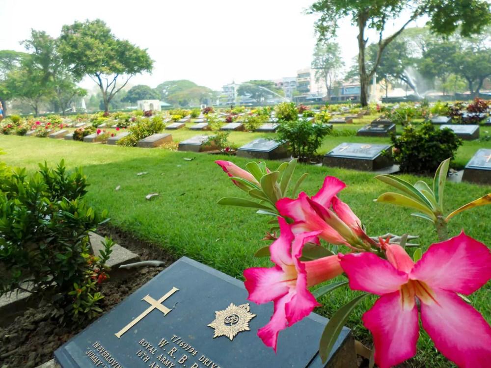 Kriegsfriedhof Don-Rak in Kanchanaburi