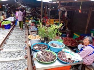 Maeklong Eisenbahnmarkt