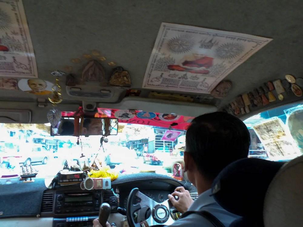 Im Taxi in Bangkok