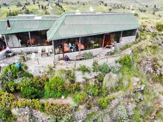 La Granja del Colca Restaurant aus der Luft
