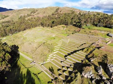 Ruinen von Chinchero von oben
