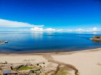 Taquile Insel Beach Drohnenaufnahme