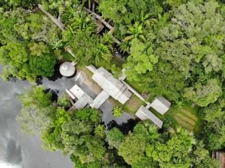 Yacumama Lodge aus der Luft