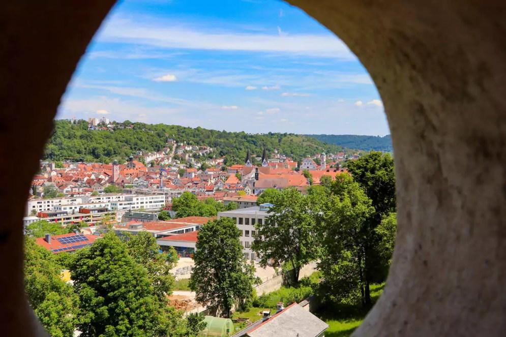 Ausblick auf Eichstätt vom Bastionsgarten