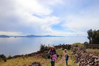 Aussicht auf den Titicacasee von Amantani
