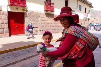 Baby Lamm in Cusco