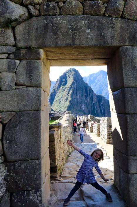 Eingangstor zur Zitadelle von Machu Picchu