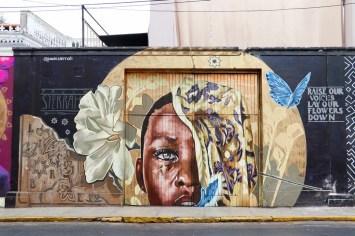 Graffiti auf der Straße in Lima