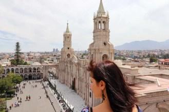 Aussicht auf die Kathedrale von Arequipa