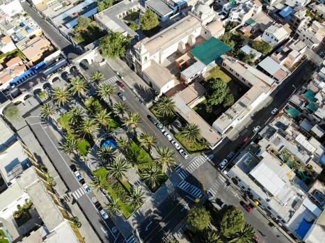 Plaza Yanahuara aus der Luft